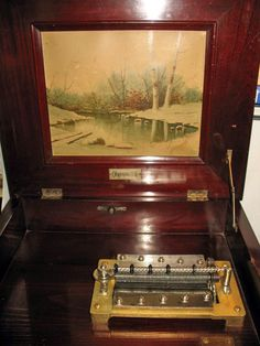 COIN OPERATED disc musical box around 1900--- SWEET!! still works!!
