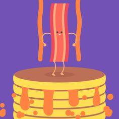 NYC Gifathon – Il raconte son voyage à New York avec 30 GIFs animés Pancake Bacon <3