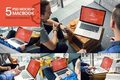 5 PSD Mockup MacBook Brainstorming by Mocup, mocup.com on @creativemarket