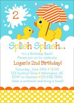 Rubber Duckie Themed First Birthday Chalkboard Rubber Duck Birthday