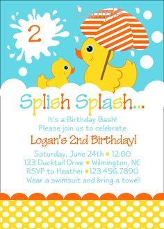 12 pack rubber ducky birthday or baby shower party invitations 12 pack rubber ducky birthday or baby shower party invitations first birthday ideas pinterest rubber ducky birthday and baby shower parties filmwisefo Image collections