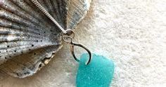 Peacock Blue Sea Glass Necklace by Silver Coast Designs