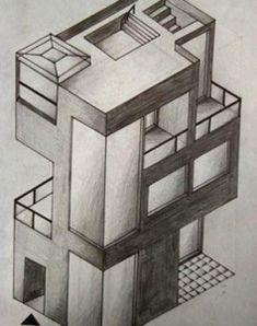 Perspektive mit 2 fluchtpunkten futuristisches geb ude unterricht perspektive in 2019 - Architektur zeichnen ...