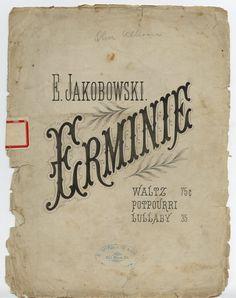 ERMINIE - Jakobowski, Edward, 1858-. Lullaby. Memphis, Tenn.: E. Witzmann & Co., 1880.