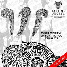 Maori Warrior of Fury Vector Tattoo Template Stencil - Tattoo Wizards Maori Tattoos, Maori Tattoo Meanings, Polynesian Tattoos Women, Polynesian Tattoo Designs, Buddha Tattoos, Maori Tattoo Designs, Japanese Tattoo Designs, Marquesan Tattoos, Tribal Tattoos