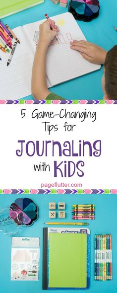 Journaling with kids is a great way to teach them productivity, mindfulness, creativity, and writing skills!
