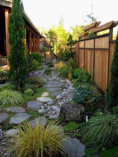 Steal these cheap and easy landscaping ideas​ for a beautiful backyard. Get our best landscaping ideas for your backyard and front yard, including landscaping design, garden ideas, flowers, and garden design. Small Backyard Landscaping, Landscaping Ideas, Walkway Ideas, Backyard Privacy, Rock Walkway, Fence Ideas, Path Ideas, Backyard Patio, Backyard Designs