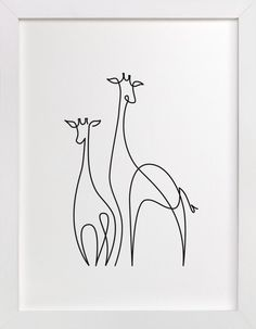 """Ink Drawing Brighten your walls with art prints and wall art by indie artists. Limited edition and custom art printed on museum quality paper, framed or unframed. - """"Raffe"""" - Art Print by Erin Deegan in beautiful frame options and a variety of sizes. Giraffe Drawing, Giraffe Art, Framed Wall Art, Wall Art Prints, Easy Pencil Drawings, Animal Line Drawings, Simple Art Drawings, Simple Wall Art, Giraffe Tattoos"""
