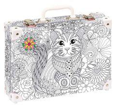 Školní kufřík velký - 35x25x11cm č. 21747 HK Velký  Vybarvovací kufřík - antistresový Suitcase, Briefcase