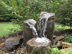 Basalt Column Fountain. For more info including videos & pricing visit us at www.boulderfountain.com WE SHIP!