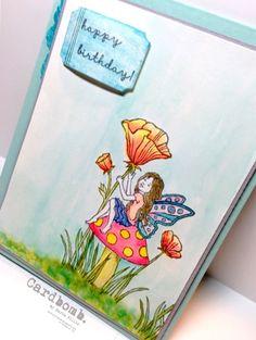 Cardbomb: OSAT Blog Hop: Summer Lovin Maria Willis www.cardbomb.blogspot.com Stampin' Up!, Fairy Celebration, watercolor, card, handmade