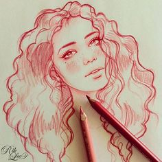 Tattoo idea by Rik Lee. Girl Drawing Sketches, Cool Art Drawings, Pencil Art Drawings, Amazing Drawings, Beautiful Drawings, Drawing Ideas, Rik Lee, Arte Sketchbook, Cartoon Art