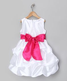 Take a look at this Fuchsia Flower Pickup Dress - Infant, Toddler & Girls by Kid Fashion on #zulily today!