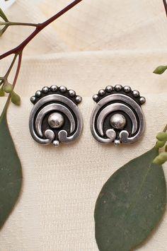 Vintage Pair of Mexican Sterling Earrings
