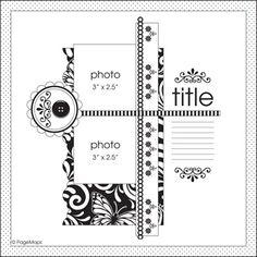 Pagemaps scrapbook layouts