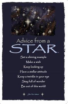 Advice from a Star Frameable Art Postcard