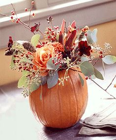 diy fall decorations ideas | ... leaves pumpkin table decoration ideas, fall dining table centerpieces