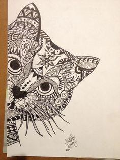 zentangle cat | Tumblr