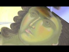 Watch as master iconographer Daniel Neculae writes an icon of the Archangel Gabriel in egg tempera for an iconography course in Raleigh, North Carolina in Ju. Archangel Gabriel, Archangel Michael, Byzantine Icons, Byzantine Art, Religious Icons, Religious Art, Paint Icon, Orthodox Icons, Painting Videos