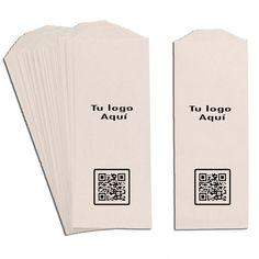 Mantén tus cubiertos a salvo de virus con estas fundas personalizadas con tu logo y tu código QR para que tus clientes puedan ver tu carta. Paper Envelopes, Cutlery