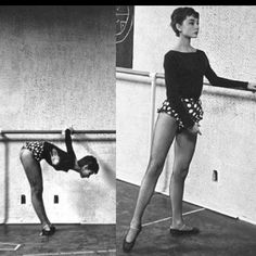 Audrey Hepburn at the barre