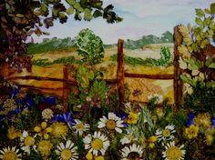 Daisies  Original Pressed Flower Art by OrganicArtWow on Etsy