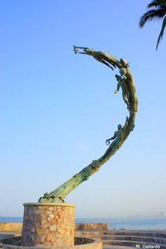 The Millenia. Statues on Puerto Vallarta's Malecon - #puertovallarta #vallarta #mexico #jalisco http://twitter.com/puertovallarta2 http://www.facebook.com/puerto.vallarta.jalisco.mexico