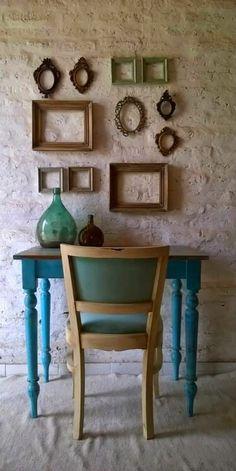 Escritorio y silla vintage. Decor, Painted Furniture, Rustic House, Mexican Home Decor, Vintage Home Decor, Home Decor, Room Decor, Vintage Wall Decor, Home Deco