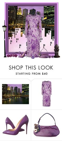 """""""Night in the City"""" by cindy-for-fashion ❤ liked on Polyvore featuring Malene Oddershede Bach, Christian Louboutin and Prada"""