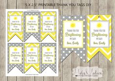 You are my Sunshine Grey Yellow Personalized Tags. To tie on the bottles.
