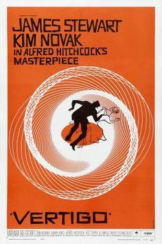Vertigo movie poster designed by Saul Bass