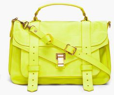 Proenza Schouler Ps1 Medium Lime Satchel