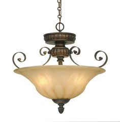 The Golden Lighting Lc Leather Le Direct For Three Light Convertible Bowl Pendant Or Semi Flush