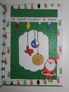 #christmascard #card #papercrafting #cardmaking #stamping #winter #christmas  #texas #santa #santaclaus