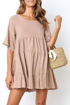 1 – Casual Dresses For Work – Casual dresses Simple Dress Casual, Casual Work Dresses, Style Casual, Simple Dresses, Elegant Dresses, Pretty Dresses, Short Dresses, Casual Outfits, Dresses For Work
