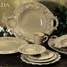 Please call for stock level. Delight your guests and bring a taste of Tuscany into your dining experience!  Even the name is stunning –  Baroque Italian Dinnerware – each piece...