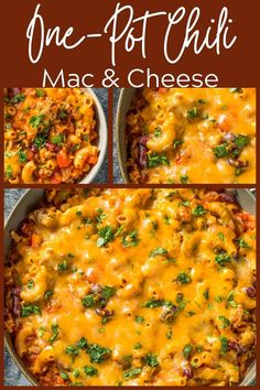 Chili Mac and Cheese combines the best of two beloved dishes for a truly outstanding yet quick-to-make comfort food. Make this one-pot meal on a weeknight for an easy, filling meal in under 30 minutes! Yummy Pasta Recipes, Beef Recipes For Dinner, Chili Mac And Cheese, Healthy Beef Recipes, Recipe Creator, One Pot Meals, Stuffed Peppers, Dishes, Easy Dinners