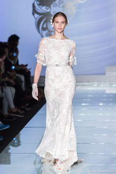 2015 wedding dress collection   lusan mandongus 2015 sposa italia half sleeve wedding dress