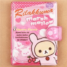 pink Rilakkuma Rilakkumarket marshmallow ring binder sticker album