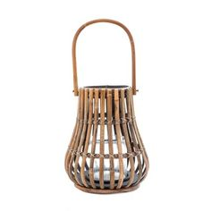 Seville Rattan Hurricane Lantern | Temple & Webster