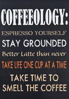 'Coffeeology' Wall Sign