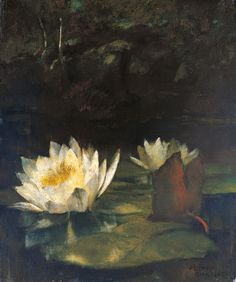 John La Farge waterlilly  | Colby College Museum of Art, Waterville, Maine; used with permission ...