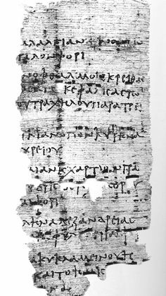 """This recently translated papyrus, dating back to the second century, contains a recipe for several ailments, including a """"drunken headache. Credit: Photo courtesy Egypt Exploration Society http://beartales.me/2015/04/22/ancient-hangover-cure-discovered-in-greek-texts/"""