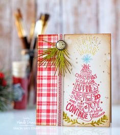 Tim Holtz Stamptember® limited edition stamp set and stencil for Simon Says Stamp. Project by Wanda Guess for Simon Says Stamp!