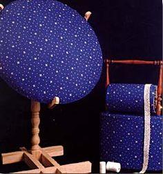 Mundillo redondo con soporte y mundillo de rulo con asa