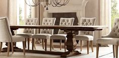 RH's Rectangular Table Collections:At Restoration Hardware, you'll explore an exceptional world of high quality unique dining room furniture. Browse our selection of dining room furniture sets & more at Restoration Hardware. Dinning Room Tables, Dining Chairs, Dining Set, Dining Rooms, Reclaimed Wood Dining Table, Salvaged Wood, Wood Table, Rustic Table, Farmhouse Table