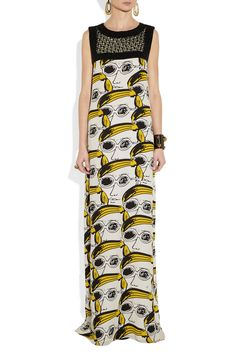 Gojee - Beaded Warhol Print Gown by Issa
