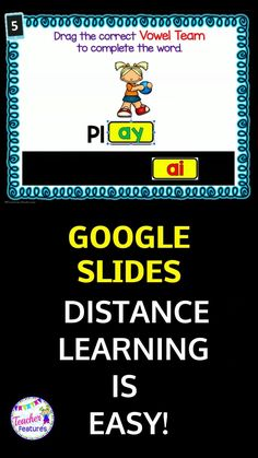 This digital Google Slides bundle includes vowel teams from 4 digital task cards resources with drag & drop movable pieces. Students choose the correct vowel team to complete each word. Students have the option to record answers on a printable sheet. No prep, interactive fun! #distancelearningelementary #TeacherFeatures #BoomCardsElementary #VowelTeams #GoogleClassroomElementary #digitaltaskcards #boomcards #iheartteachingelementary #phonicsactivities #TpT #DistanceLearningTpT