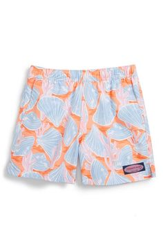 Vineyard Vines 'Chappy - Shells and Coral' Swim Trunks (Toddler Boys & Little Boys)