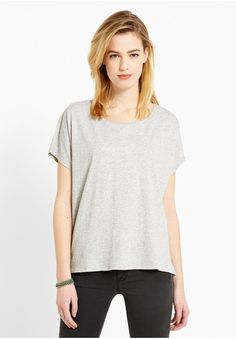Campus T-Shirts Short Sleeve 51265 Damen Basic T-Shirt, grau, size: L